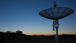 Radio Telescope Dish at dusk