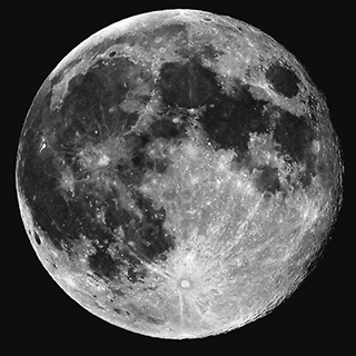 Close up image of full moon.
