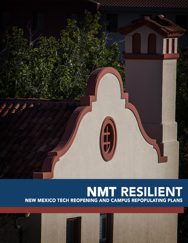 Cover Image of NMT Resilient Reopening plan that links to PDF of the complete reopening plan.