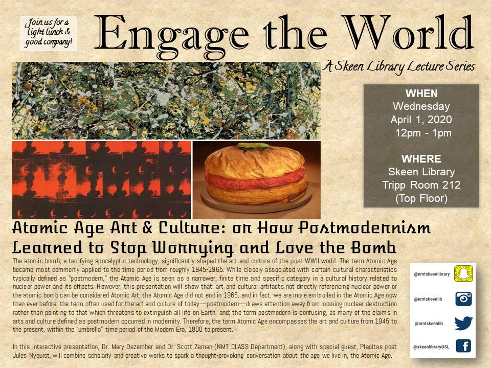 Flyer for April 2020 Engage the World