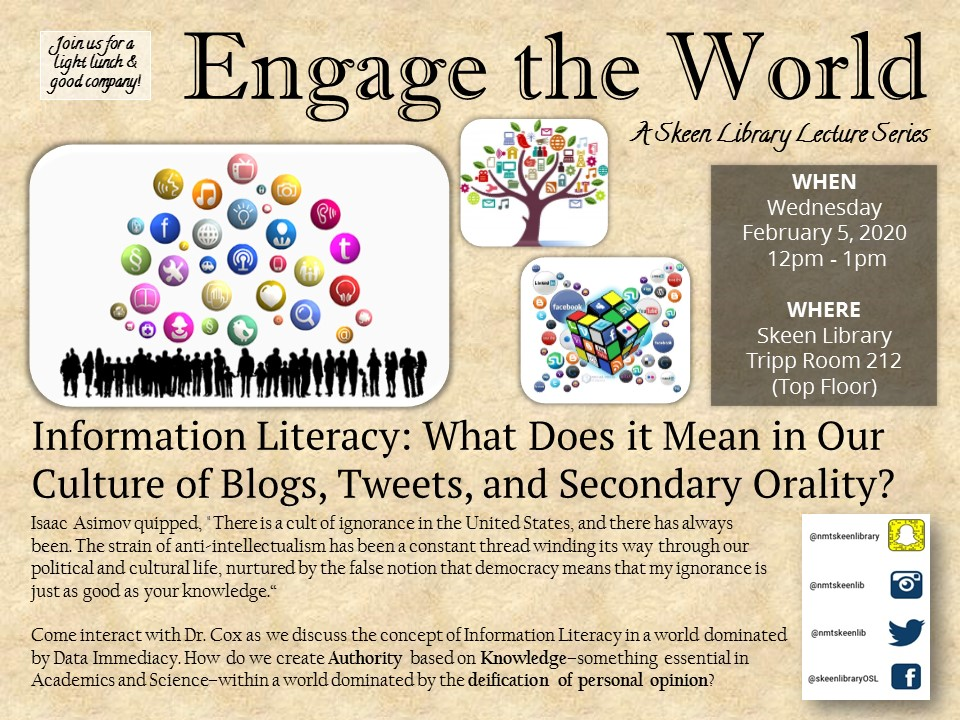 Flyer for February 2020 Engage the World
